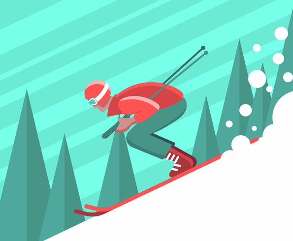 Skiër Illustratie vector
