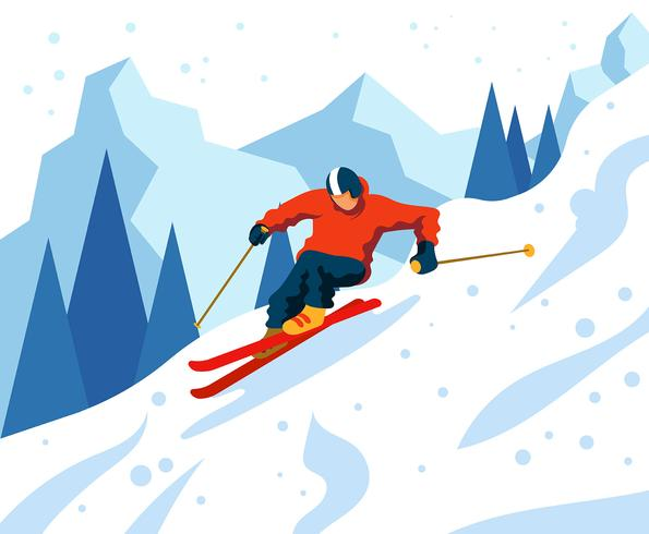 Skiër Illustratie vector