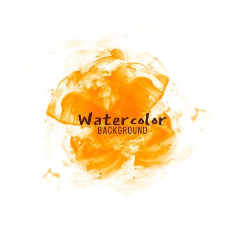 Abstract oranje aquarel ontwerp achtergrond vector