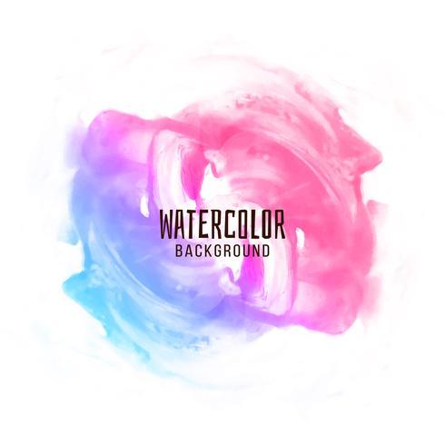 Abstracte kleurrijke aquarel ontwerp achtergrond vector