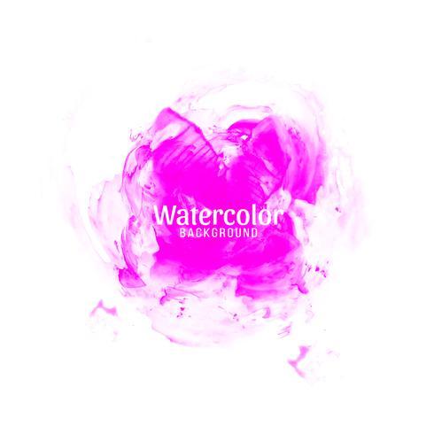 Abstracte roze aquarel ontwerp achtergrond vector
