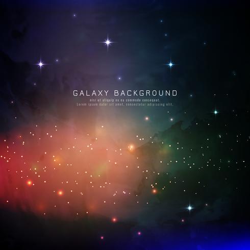 Abstracte kleurrijke melkwegachtergrond vector