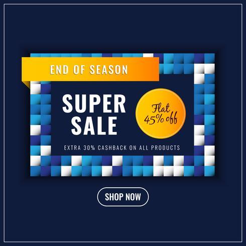 Abstracte kleurrijke super verkoopachtergrond vector