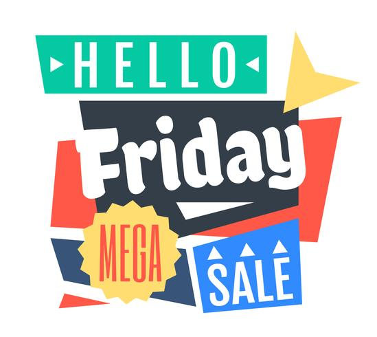 Vrijdag Mega Sale vector
