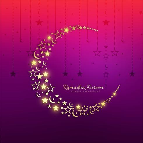 Mooie kleurrijke ramadan kareem wenskaart achtergrond vector