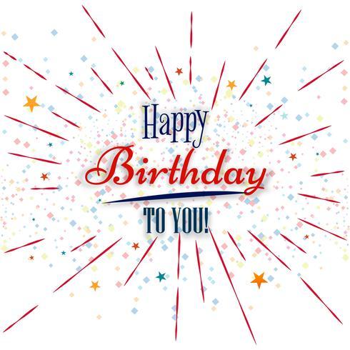 Gelukkige verjaardagskaart creatieve achtergrond vector