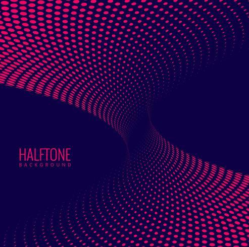 Abstracte donkere halftone golf vectorachtergrond vector