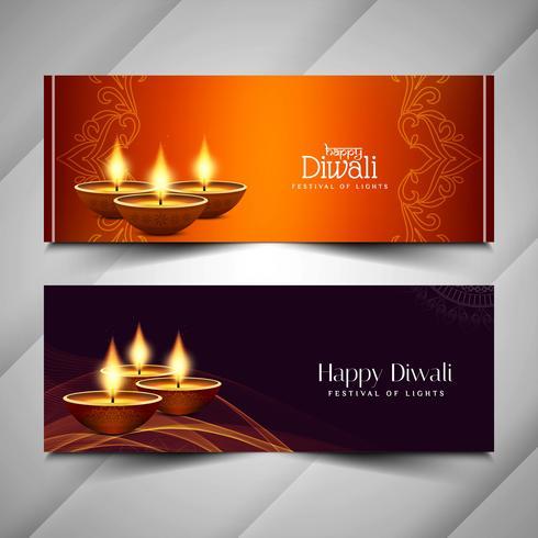 Abstract Gelukkig Diwali godsdienstig bannersontwerp vector
