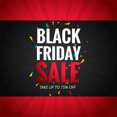 Mooie zwarte vrijdag poster achtergrond van de affiche vector