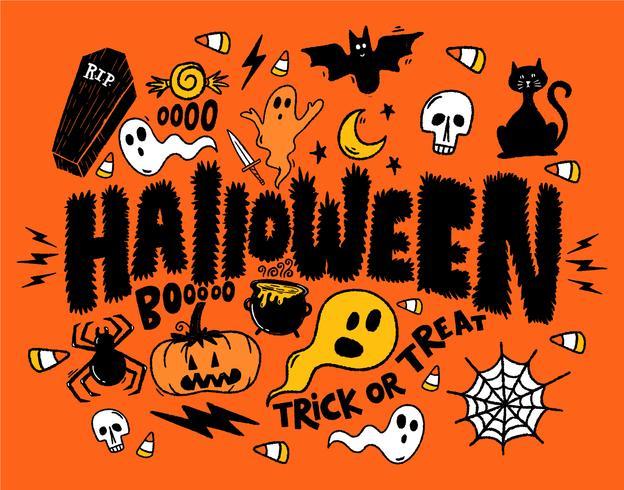 Halloween geesten collage vector