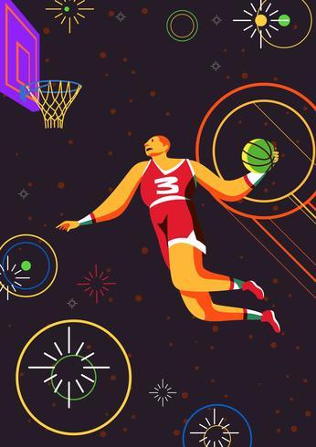 Basketbal Slam Dunk vector