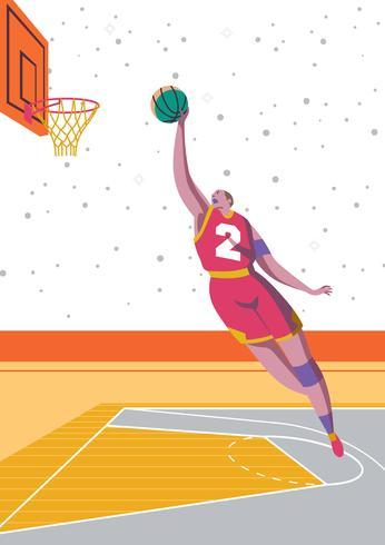 slam dunk basketbal vector