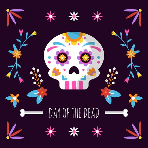 Dag Van De Dode Achtergrond vector