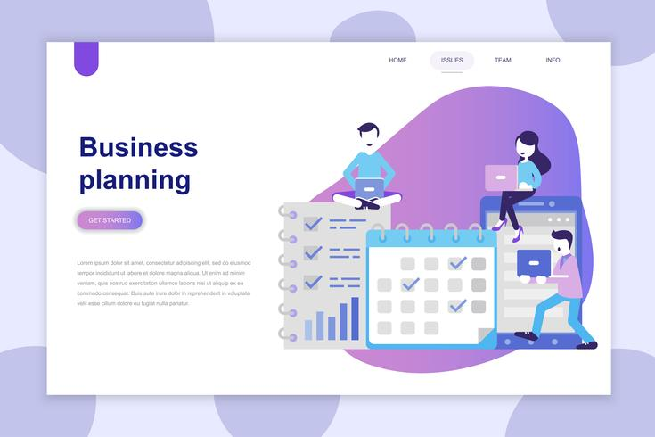 Modern plat ontwerpconcept van bedrijfsplanning voor website en mobiele website. Bestemmingspaginasjabloon. Kan gebruiken voor webbanner, infographics, hero images. Vector illustratie.