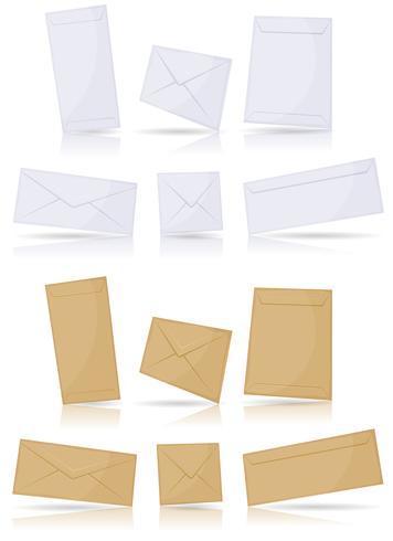 Enveloppen instellen vector