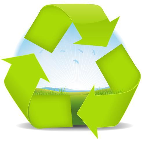 Zomer of lente recycle landschapsbanner vector