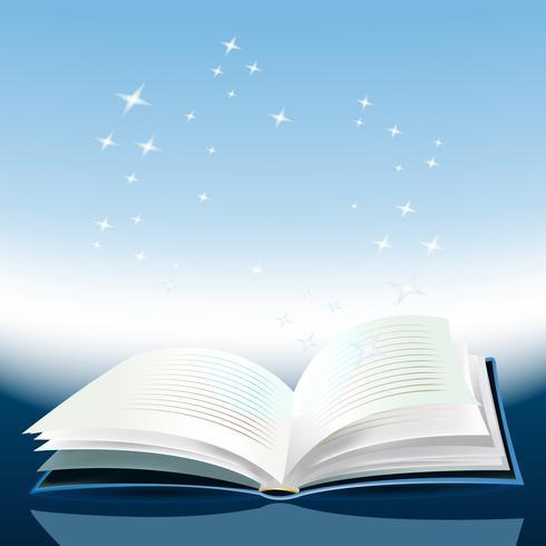 Magisch boek vector