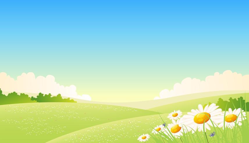 Lente of zomer seizoenen Poster vector