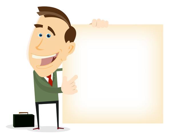 Advertentie van Happy zakenman vector