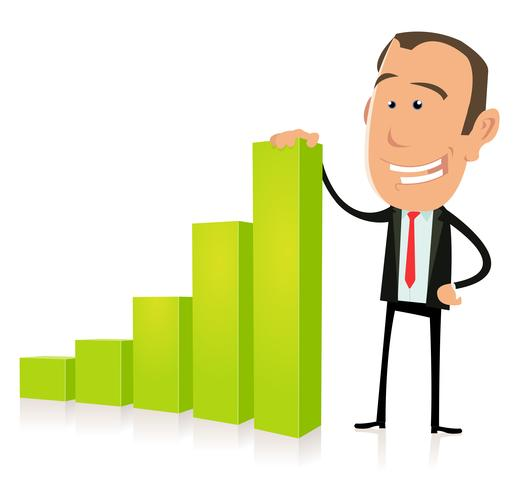 Subprime Bar Graph-resultaat vector