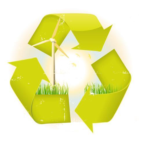 Grunge recyclebaar symbool vector