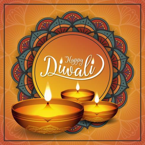 Diwali festival achtergrond vector