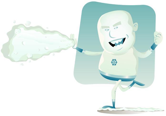 komische superheld - iceman vector