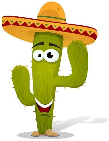 Cartoon Mexicaanse Cactus karakter vector