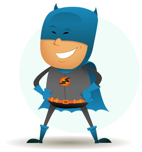 cartoon-comic-super-held-zes vector