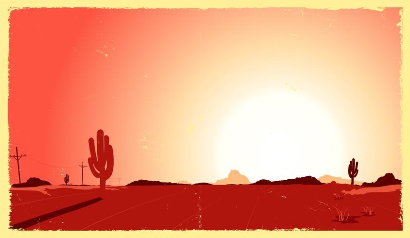 westelijke woestijnhitte vector
