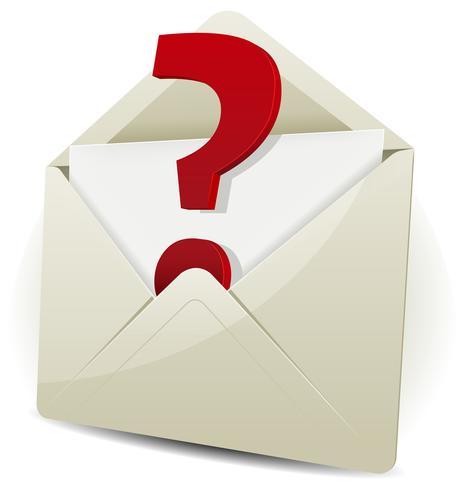 Verzoek per e-mail verzenden vector