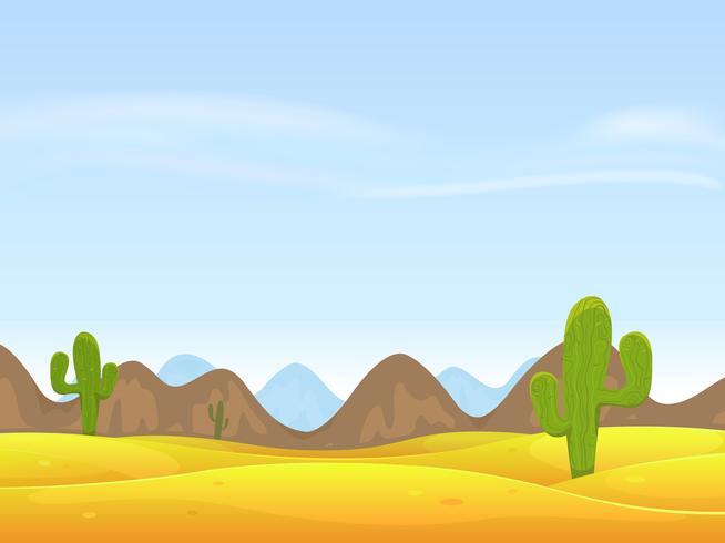 Woestijn landschap achtergrond vector