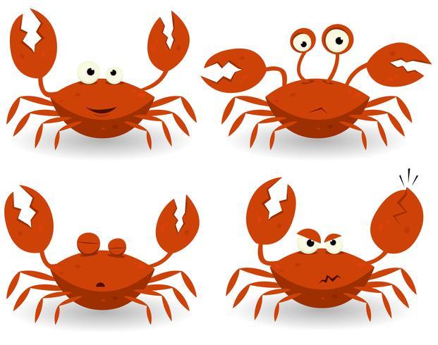 Red Crabs-tekens vector
