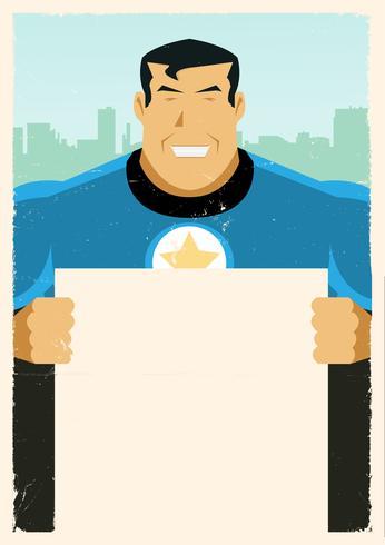 Grunge Super Hero-teken vector