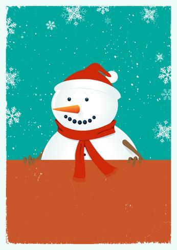 Kerstmissneeuwman vector
