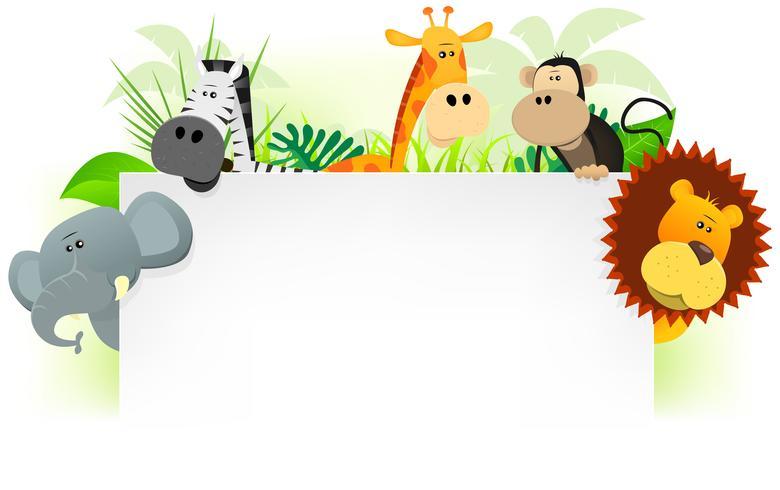 Wilde dieren Briefhoofdachtergrond vector