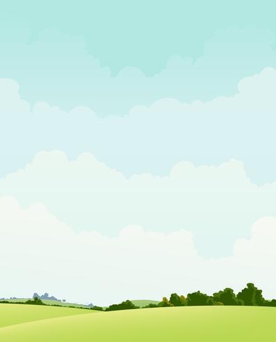 Lente en herfst landschap vector