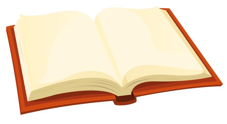 Open boek vector