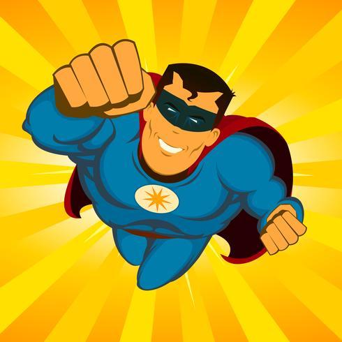 Vliegende superheld vector