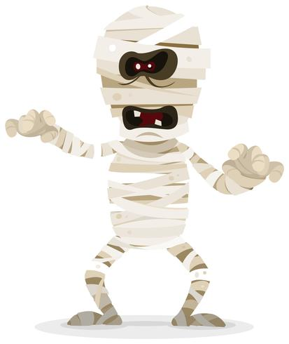 Halloween-mummiekarakter vector