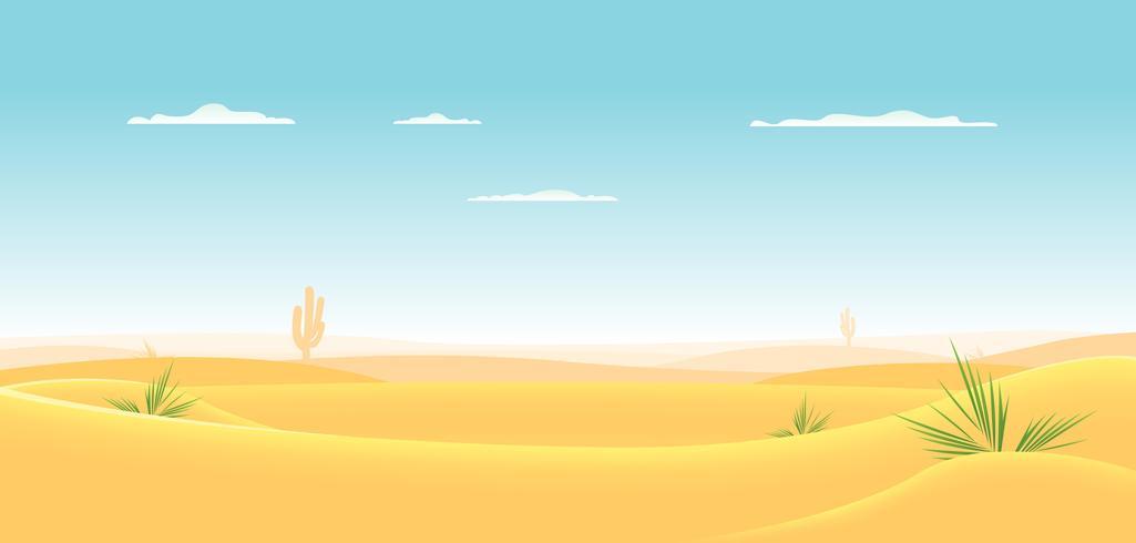 diepe westelijke woestijn vector