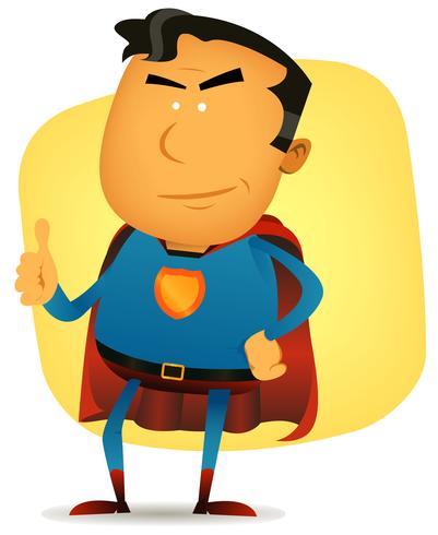 komisch superman karakter vector