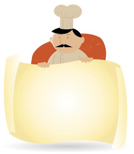 Chef-kok Banner Menu Achtergrond vector
