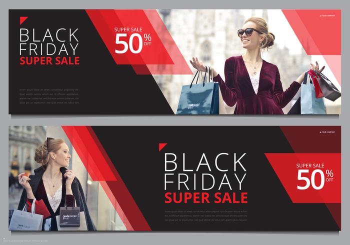 Black Friday-verkoopbannermalplaatje Mock Up Klaar te gebruiken vector