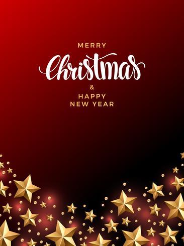 Kerstmis gouden sterren achtergrond vector