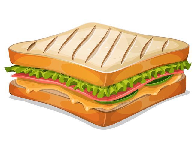 Frans Sandwich-pictogram vector