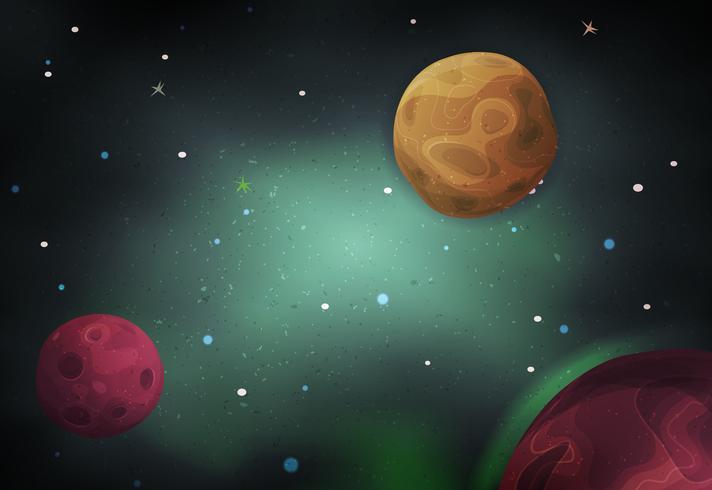 Scifi-ruimteachtergrond voor Ui-spel vector