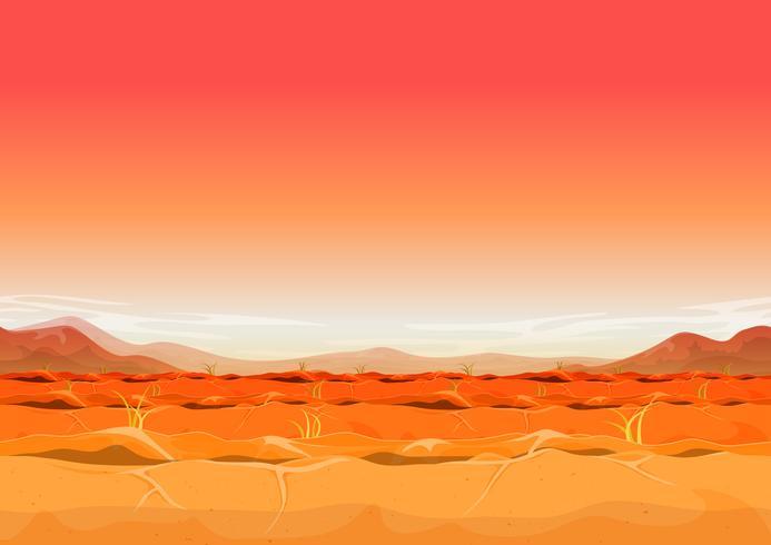 Naadloze Far West woestijn landschap voor Ui spel vector
