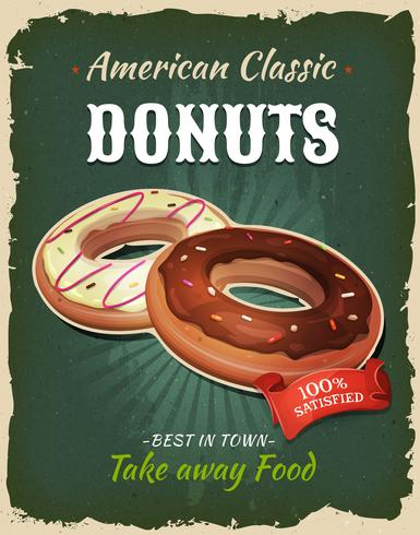 Retro Fast Food Donuts-poster vector