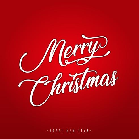 Merry Christmas belettering wenskaart vector